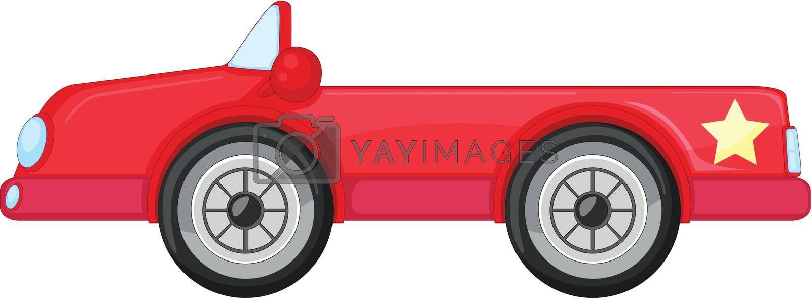 illustration of a red car on a white background