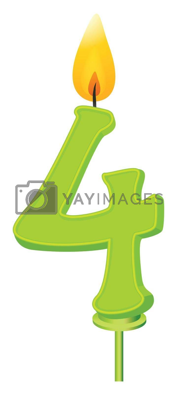 Illustration of a birthday candle number