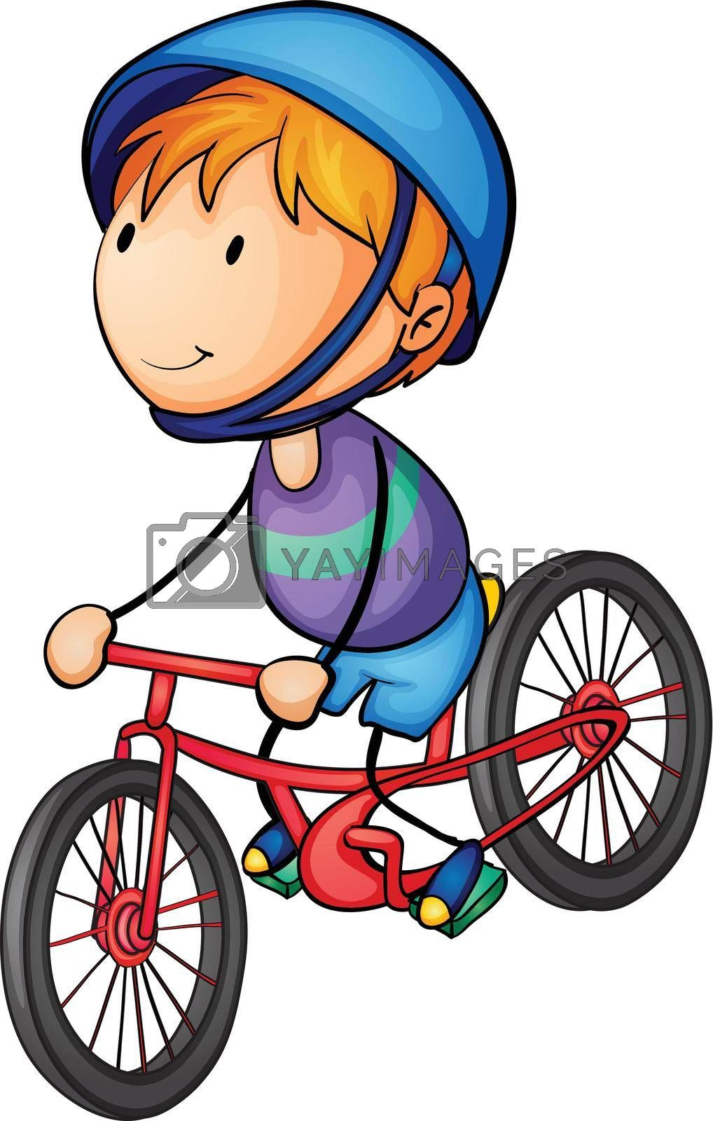 illustration of a boy riding on a bicycle