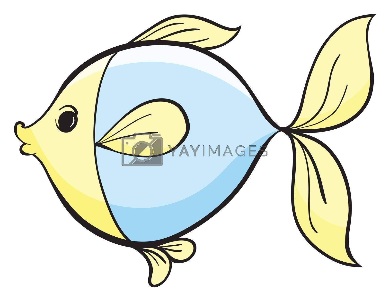 illustration of a fish on a white background