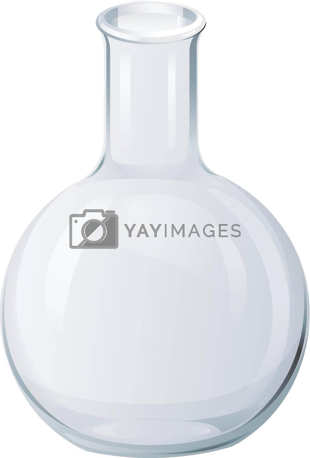 Illustration of scientific glassware - flasks