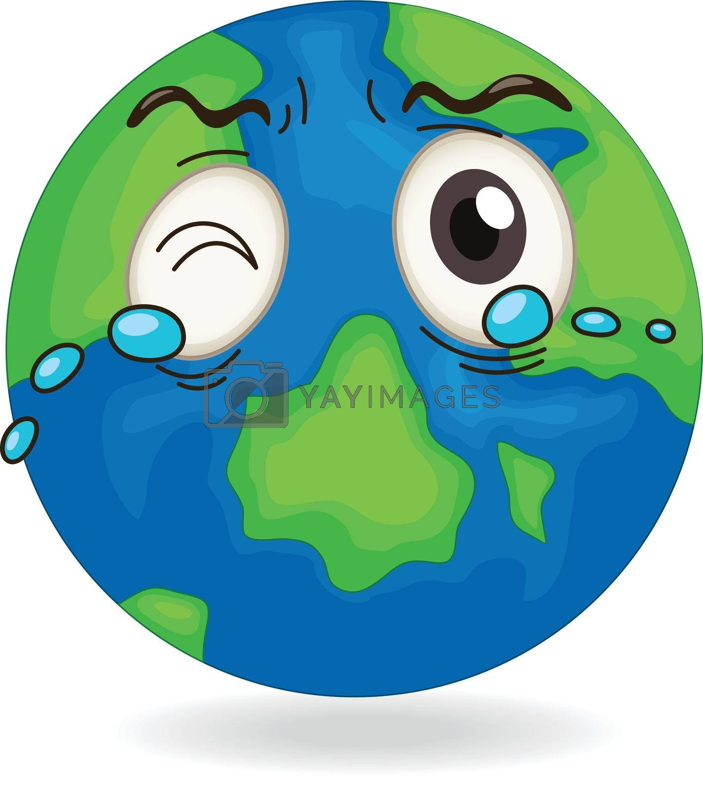 illustration of earth globe on on a white background