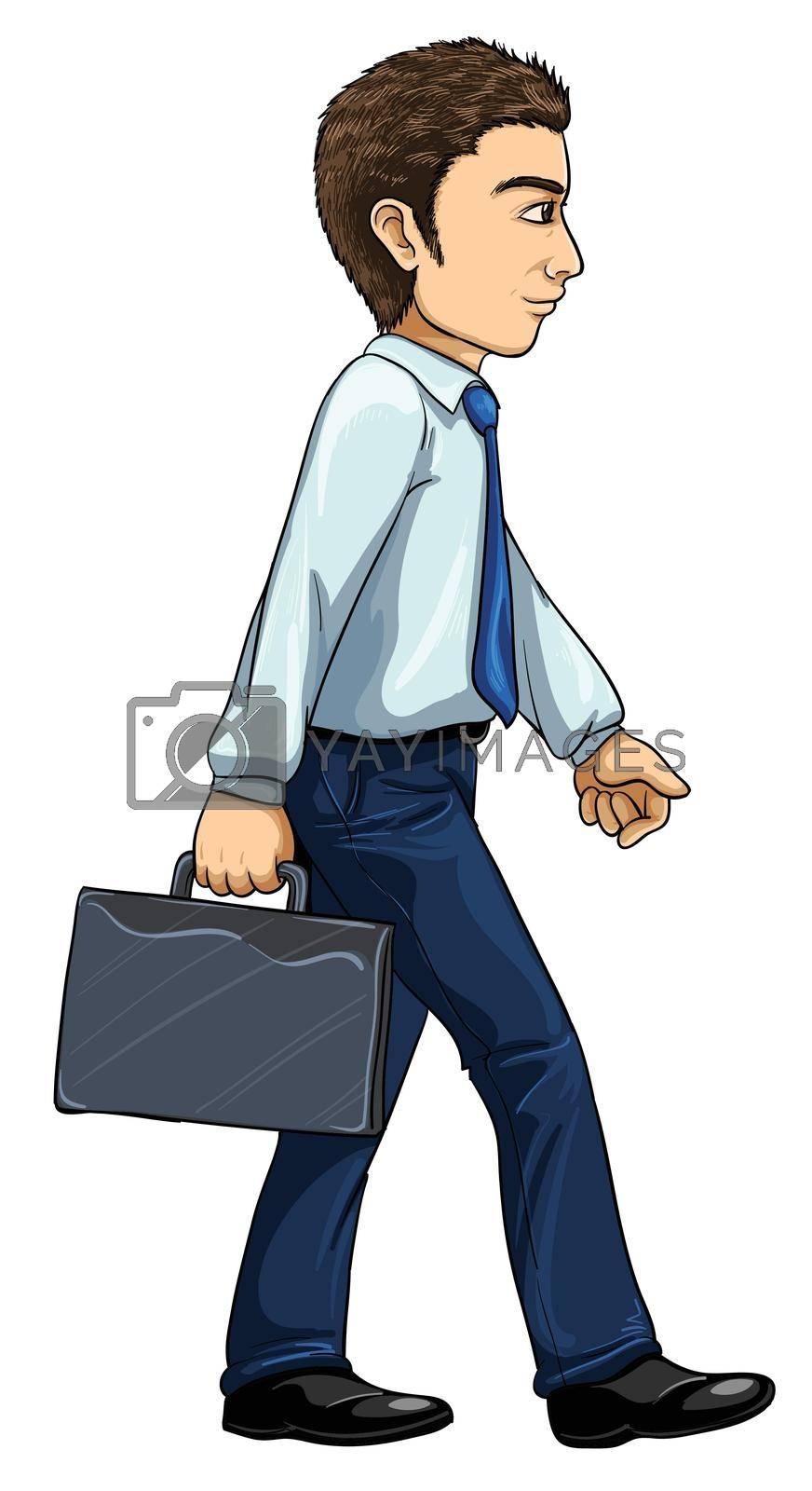 Illustration of modern man from evolution series