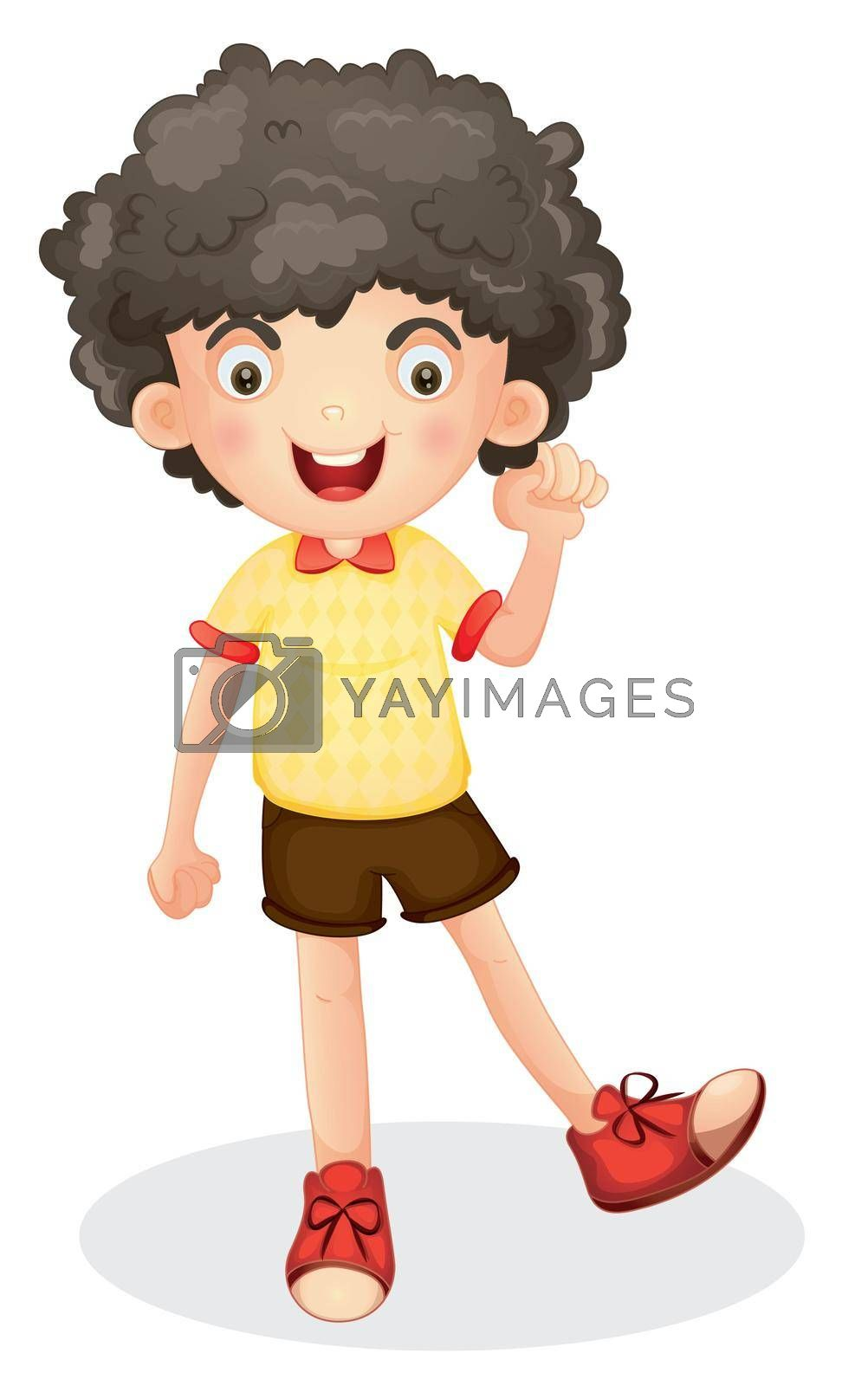 illustration of a boy on a white backgroud