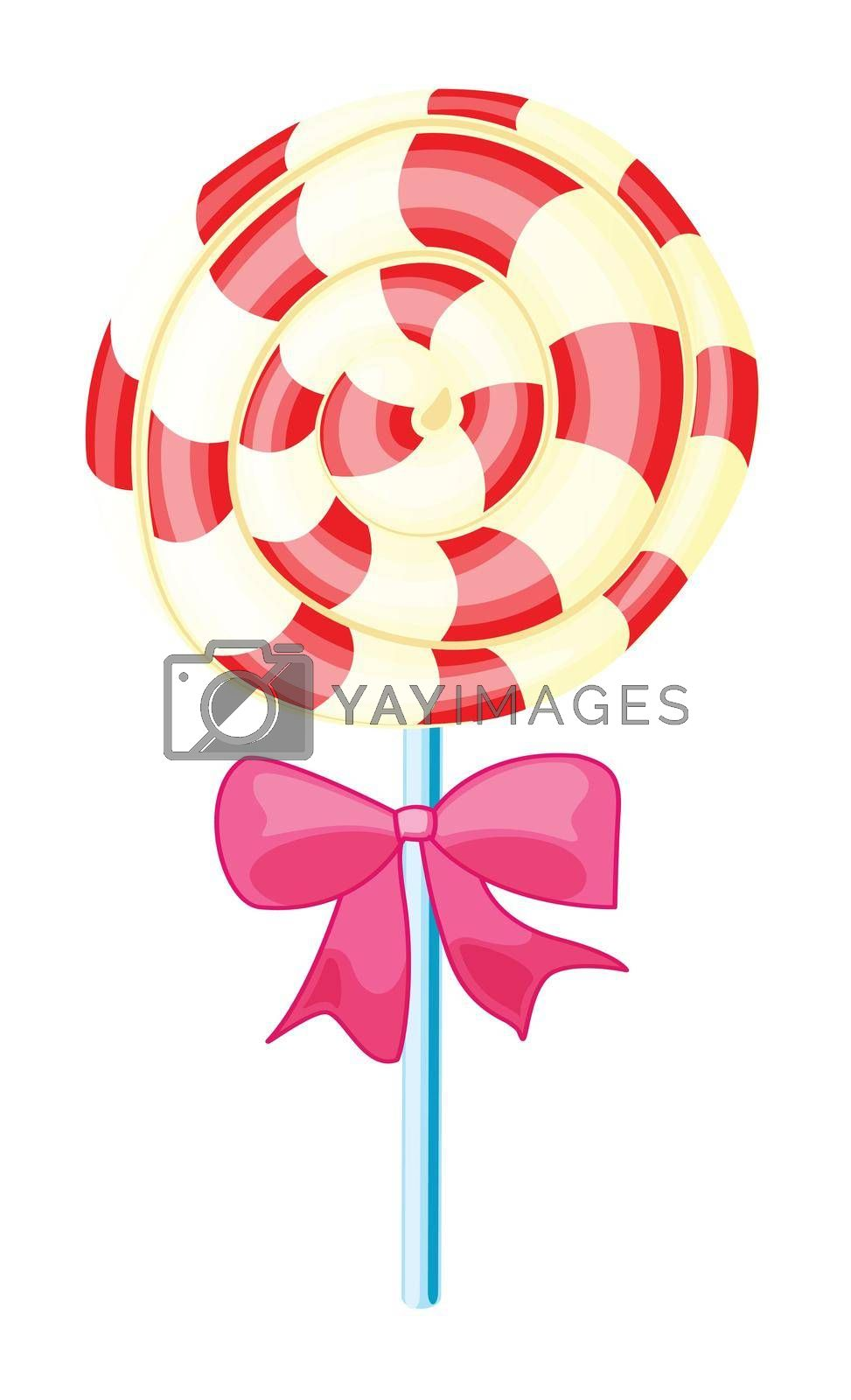 illustration of a lolly sweet on a white background