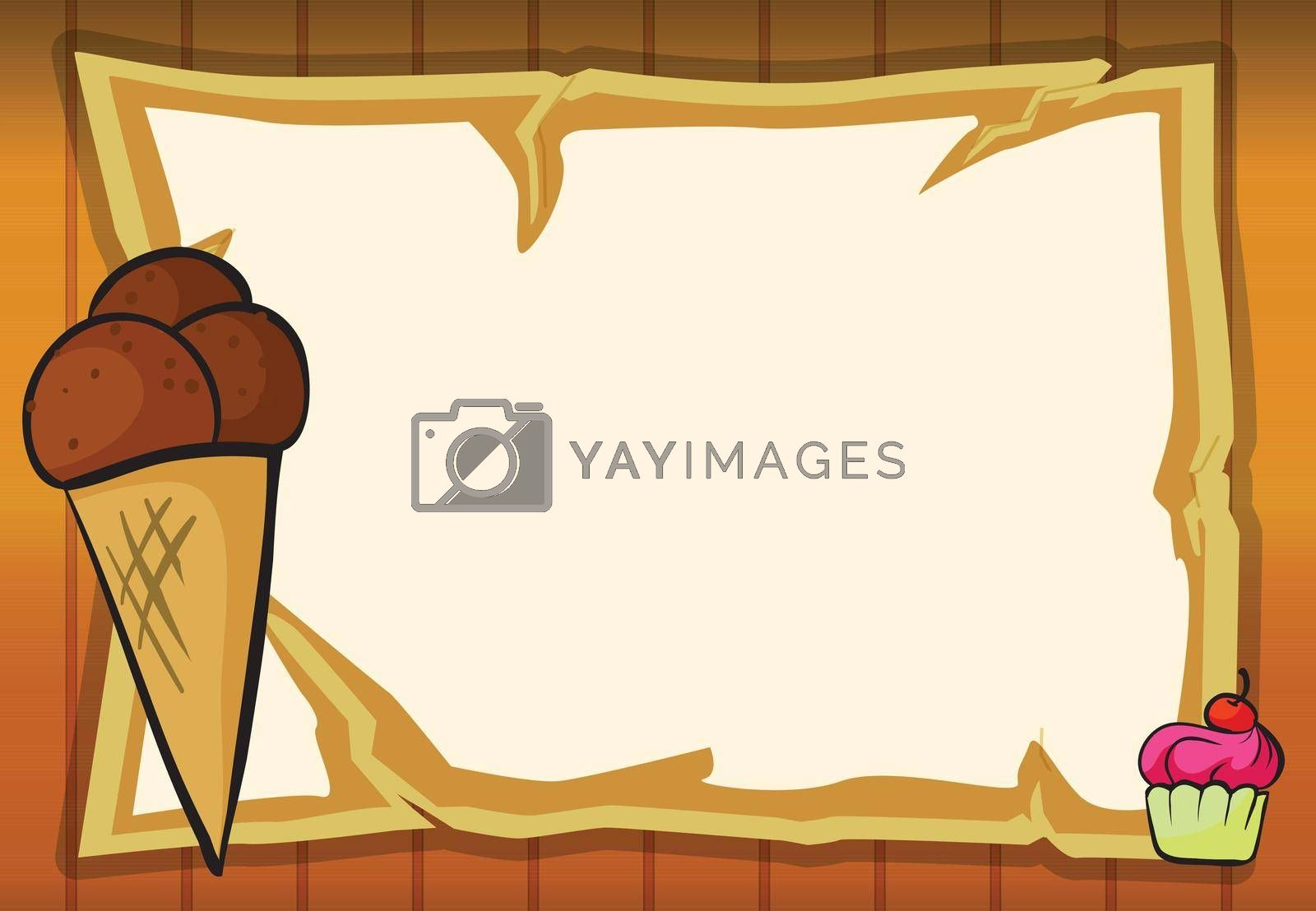 illustration of ice cream and a map