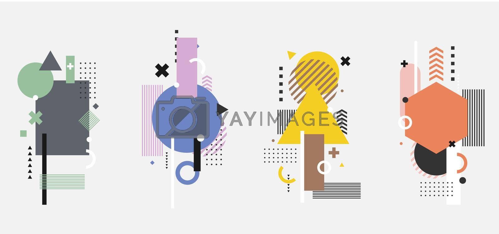 Royalty free image of Set of creative modern geometric elements isolated on white background by phochi