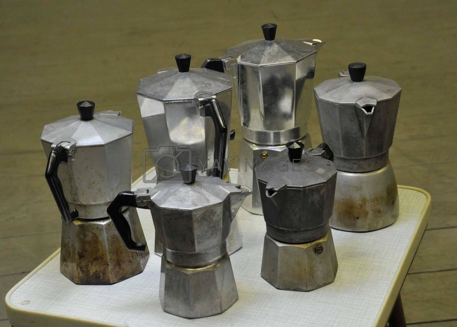 brewing coffee with a moka pot, stove top coffee maker
