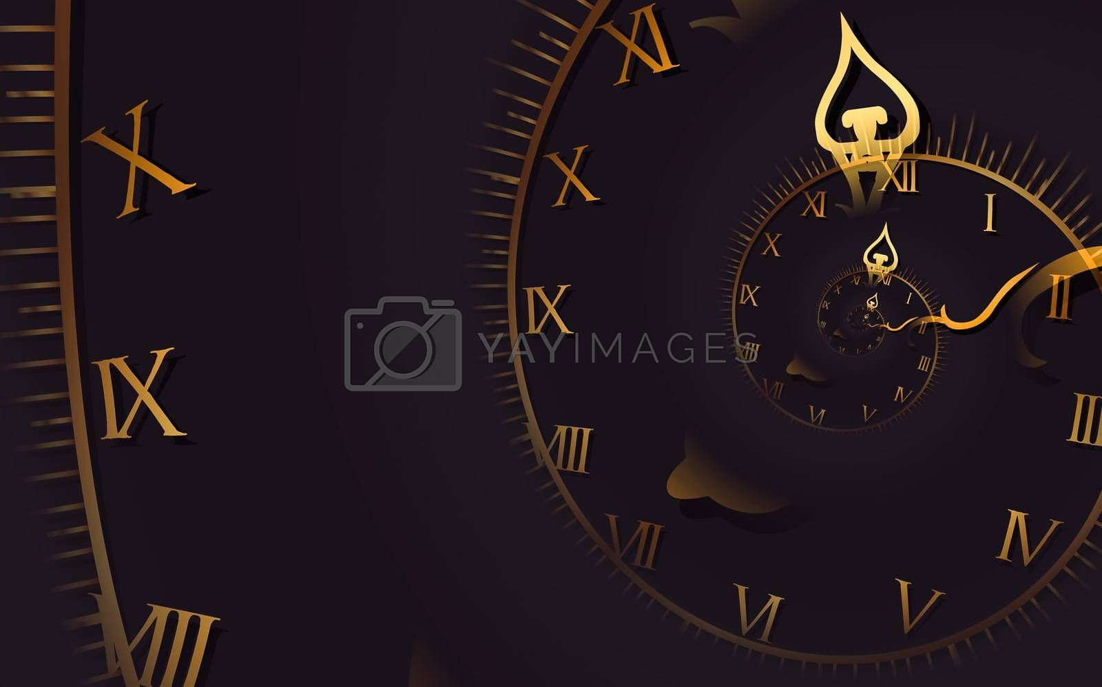 Royalty free image of Droste effect background. Abstract design for concepts related to time. by Perseomedusa