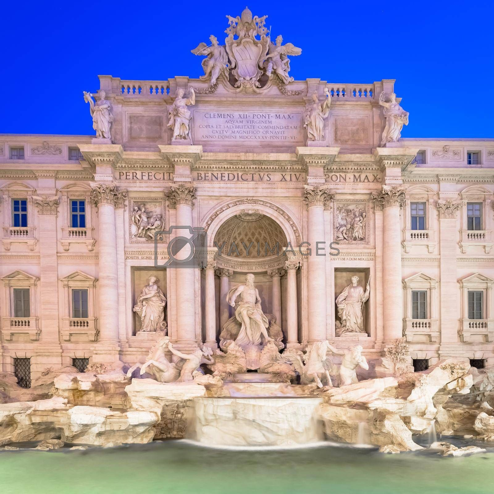 Royalty free image of Trevi fountain at night by Perseomedusa