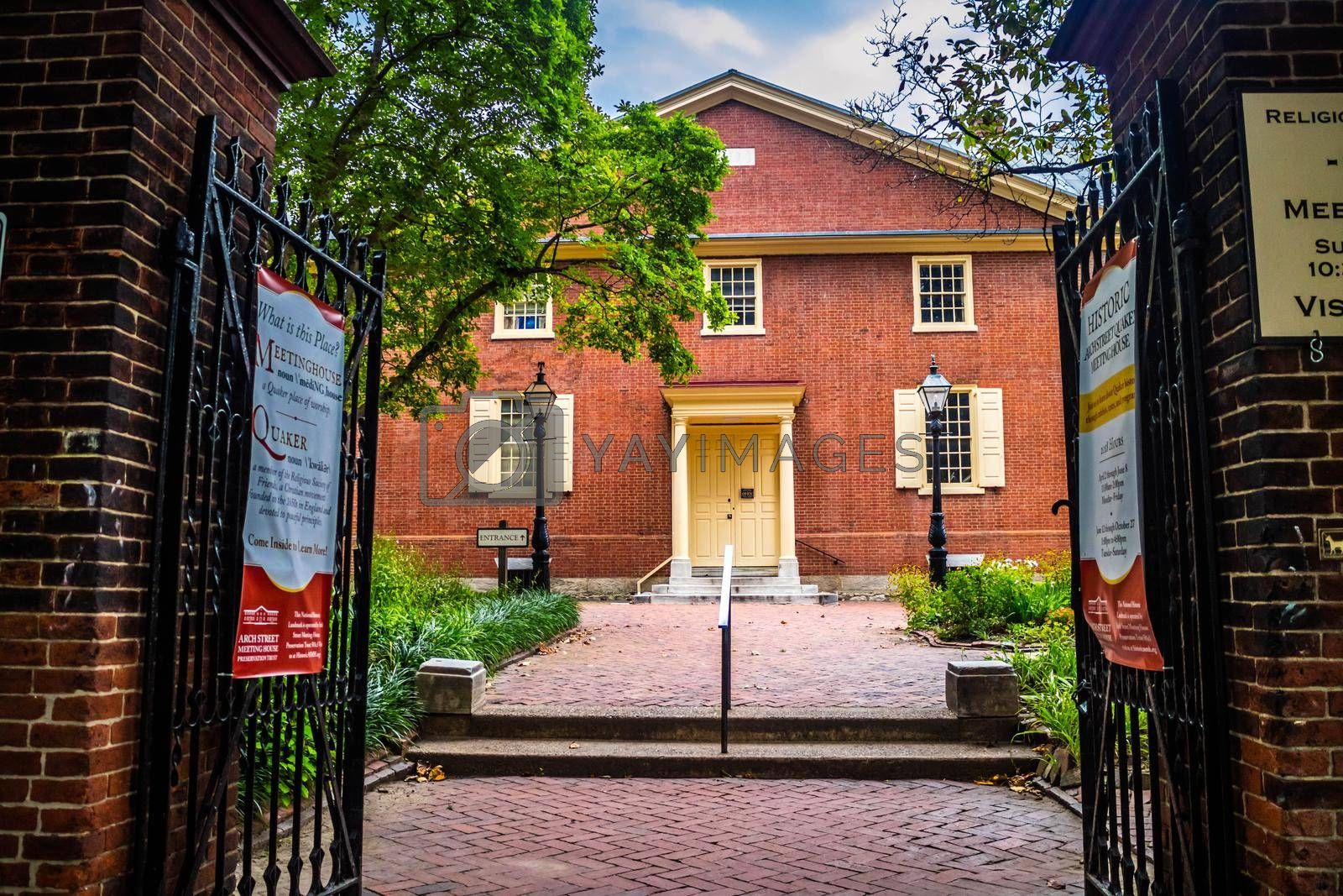 Royalty free image of Pennsylvania, PA, USA - Sept 22, 2018: The Arch Street Meeting House by cherialguire