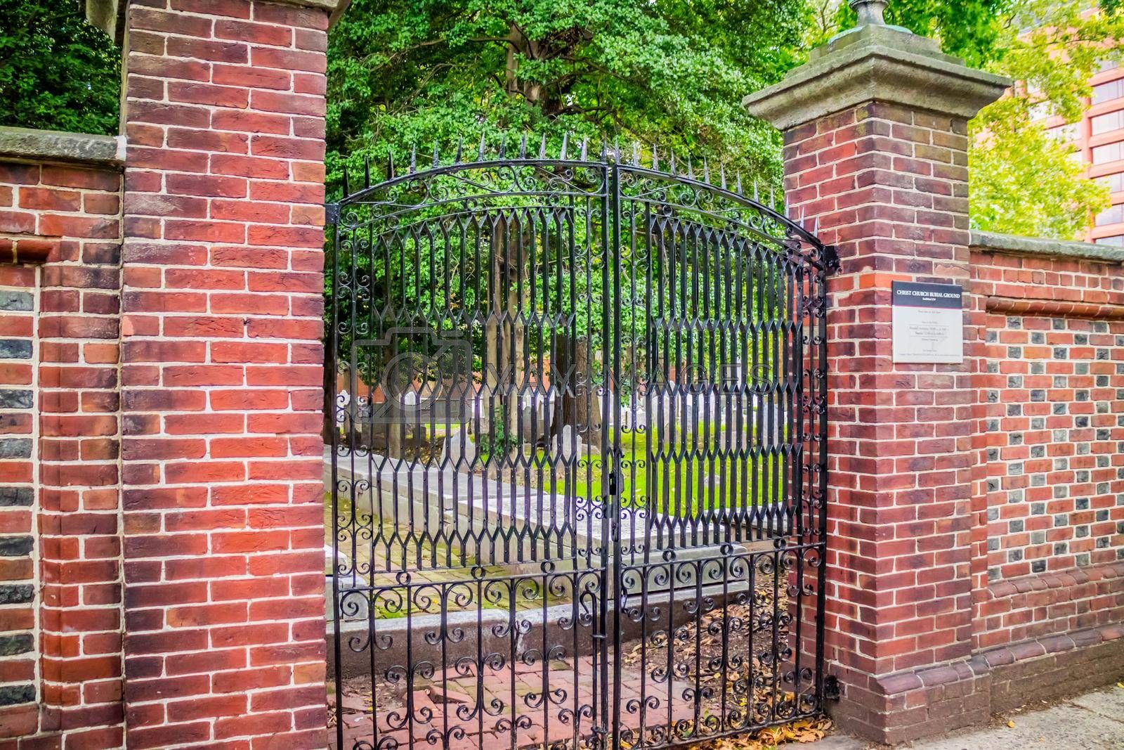 Royalty free image of Pennsylvania, PA, USA - Sept 22, 2018: The Christ Church Burial Ground by cherialguire