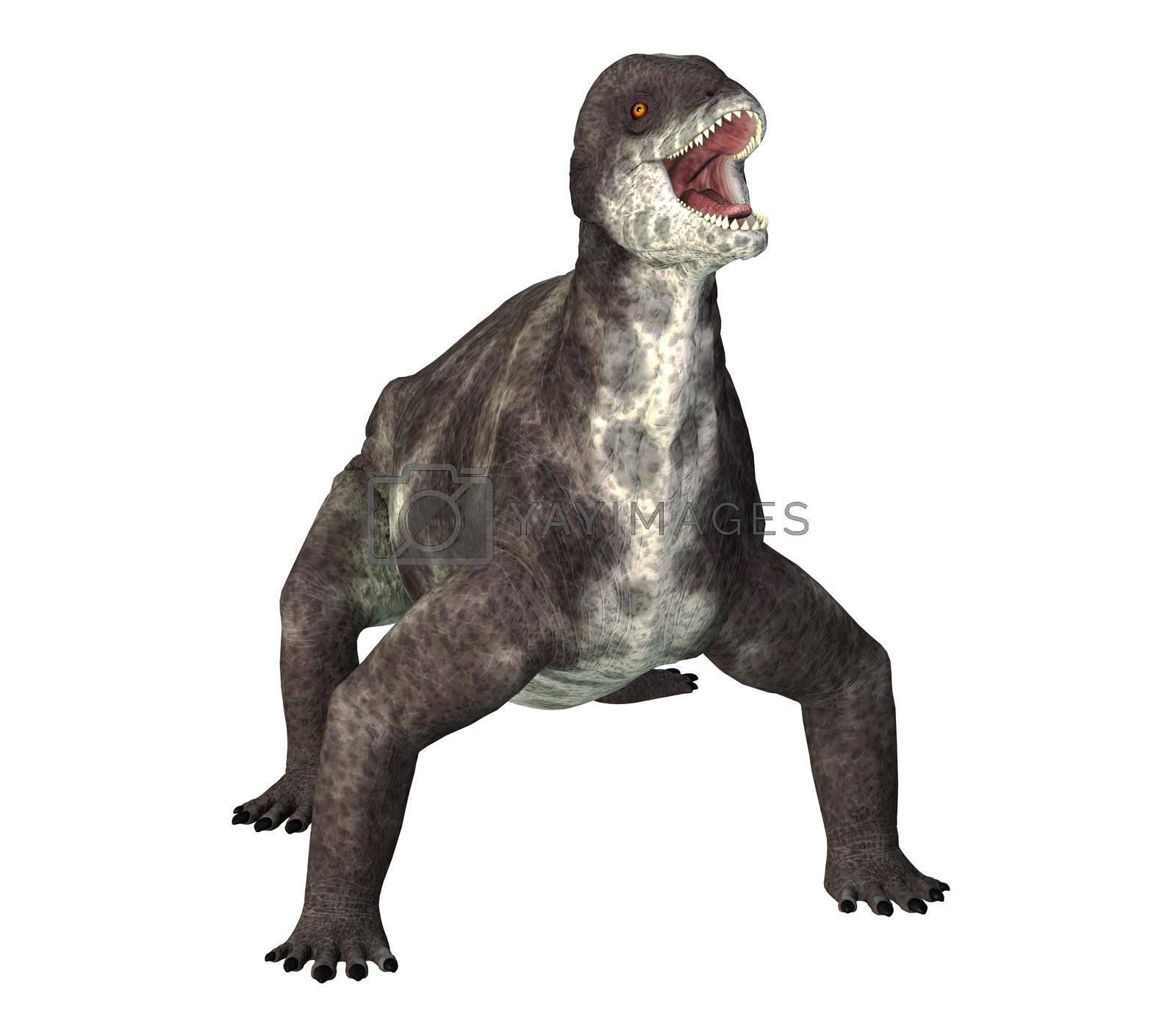 Royalty free image of Criocephalosaurus Dinosaur on White by Catmando