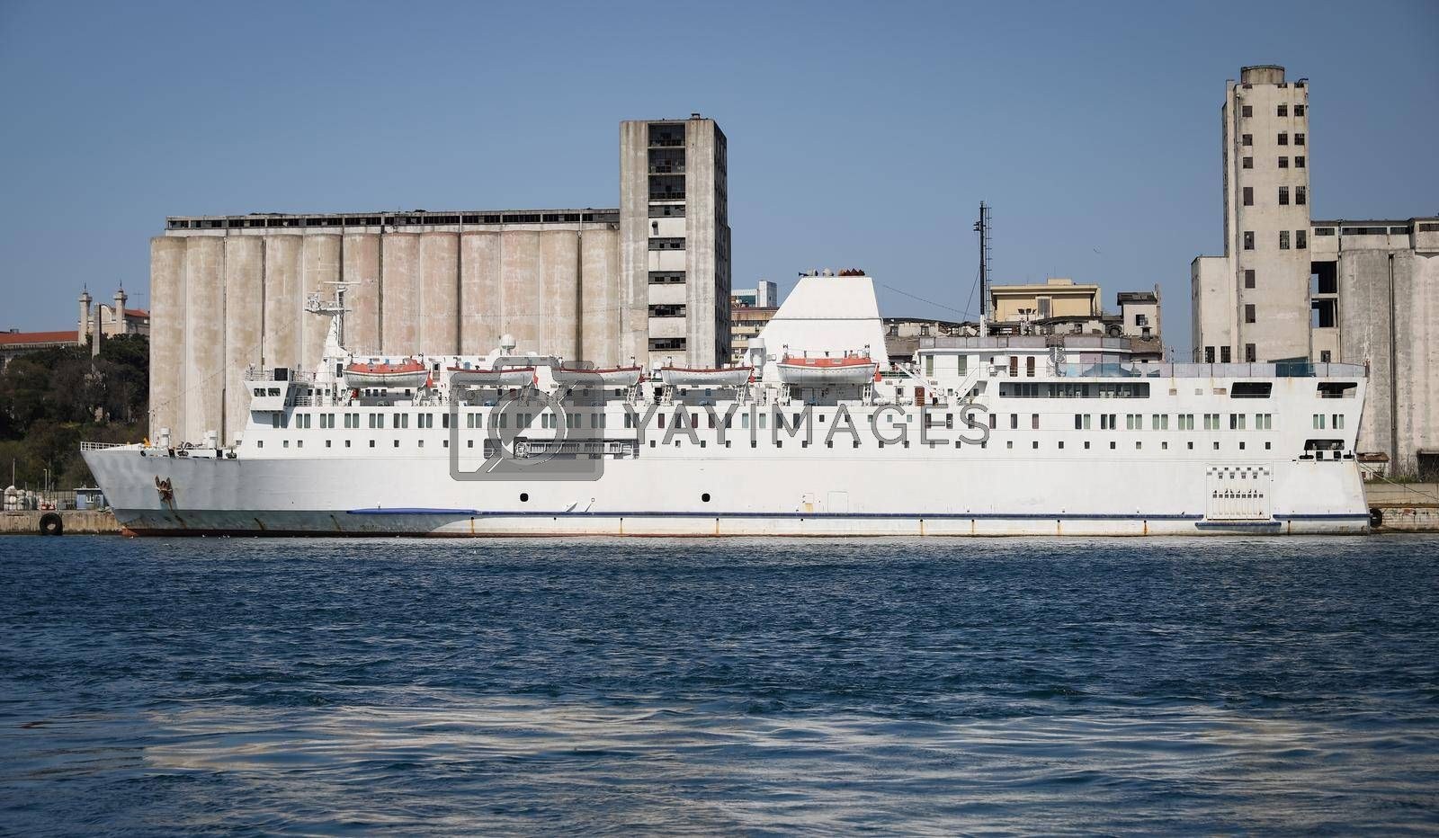 Passenger Ship is Waiting in a Port