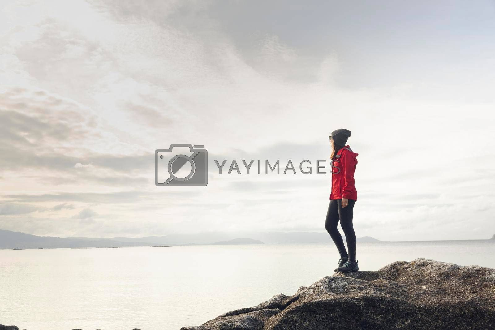 Royalty free image of Woman enjoying the view by Iko