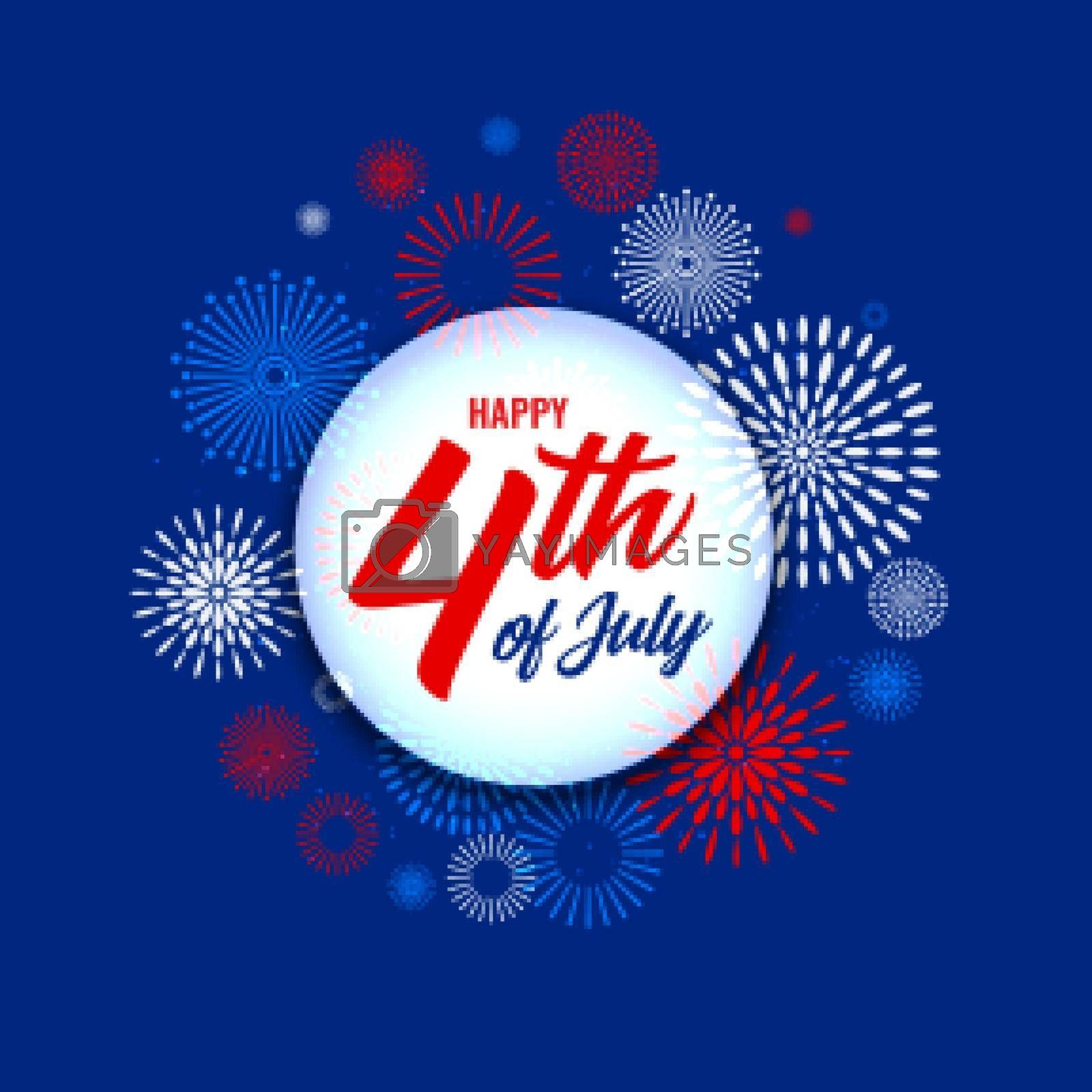 Royalty free image of 4th of july independence day fireworks background by mstjahanara