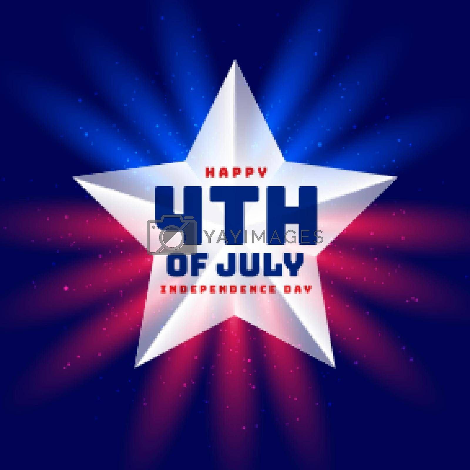 independence day 4th of july star background