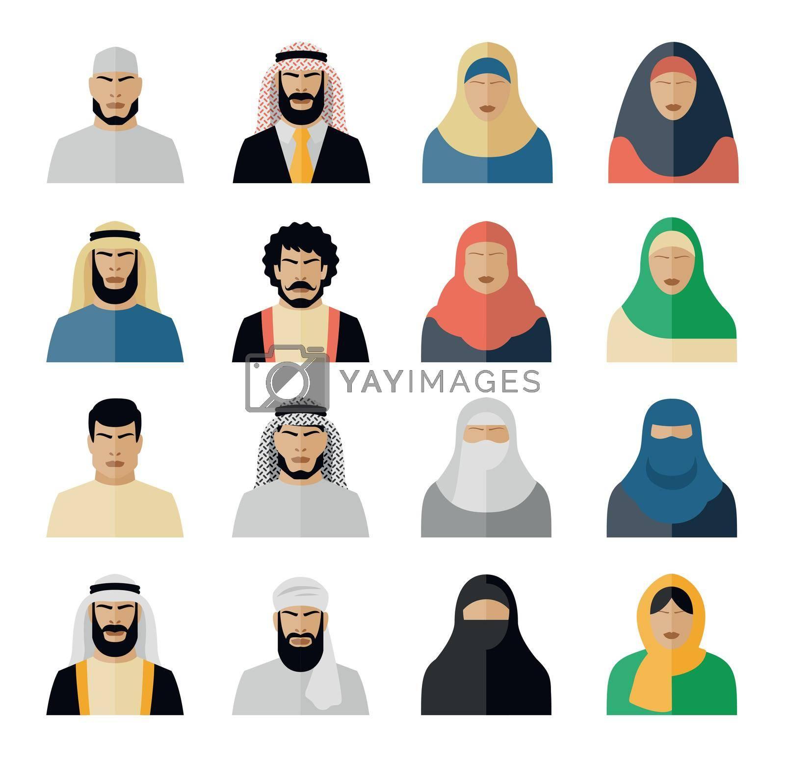 Royalty free image of Arab people icons by mstjahanara