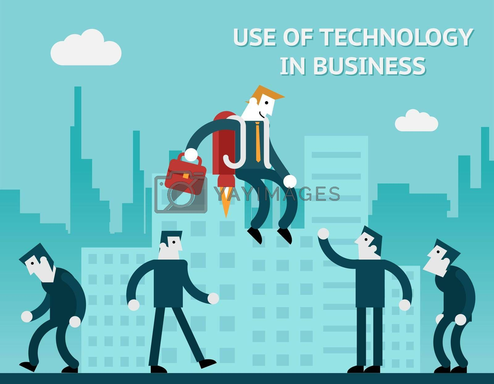 Royalty free image of Use of technology in business by mstjahanara