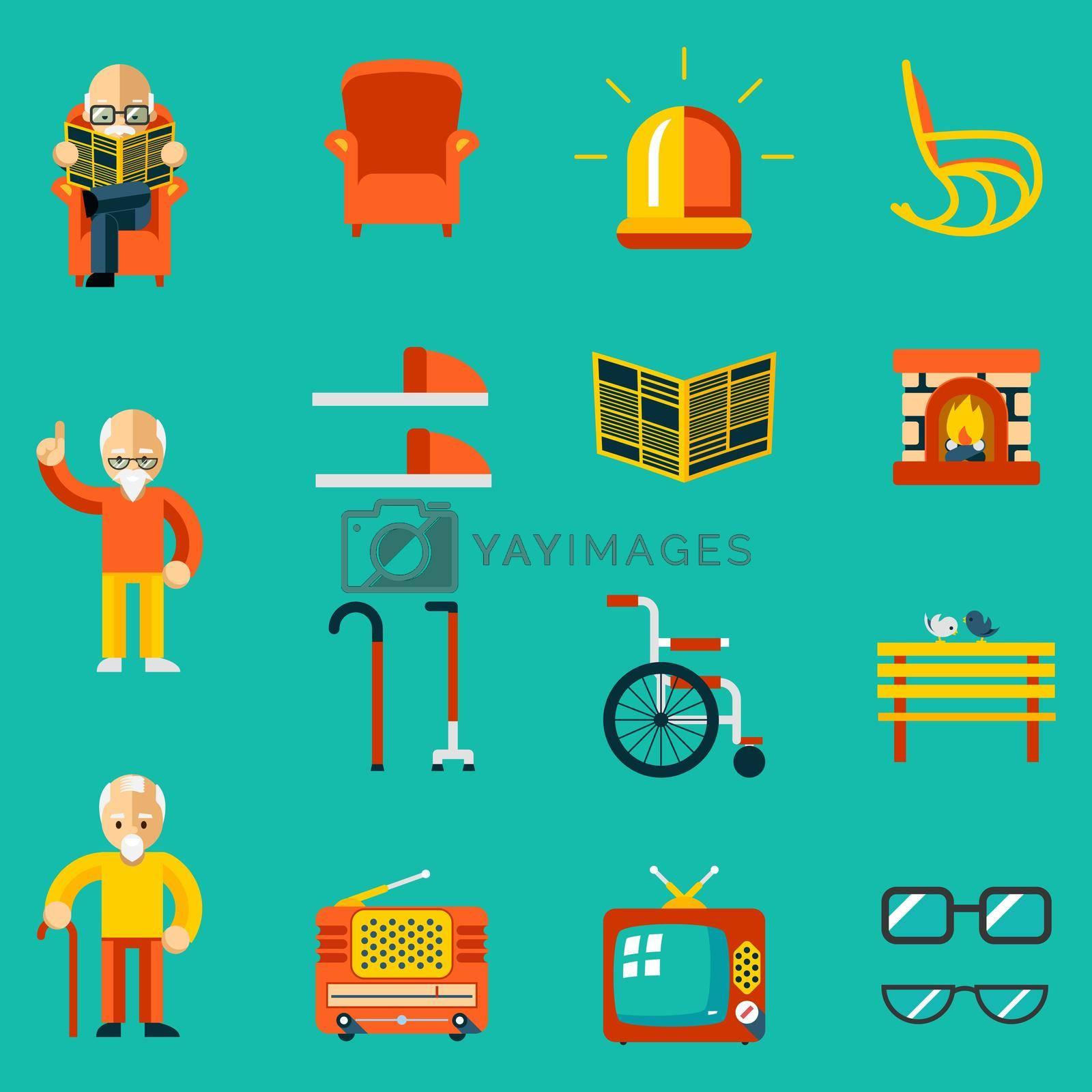 Royalty free image of Elderly people icons by mstjahanara
