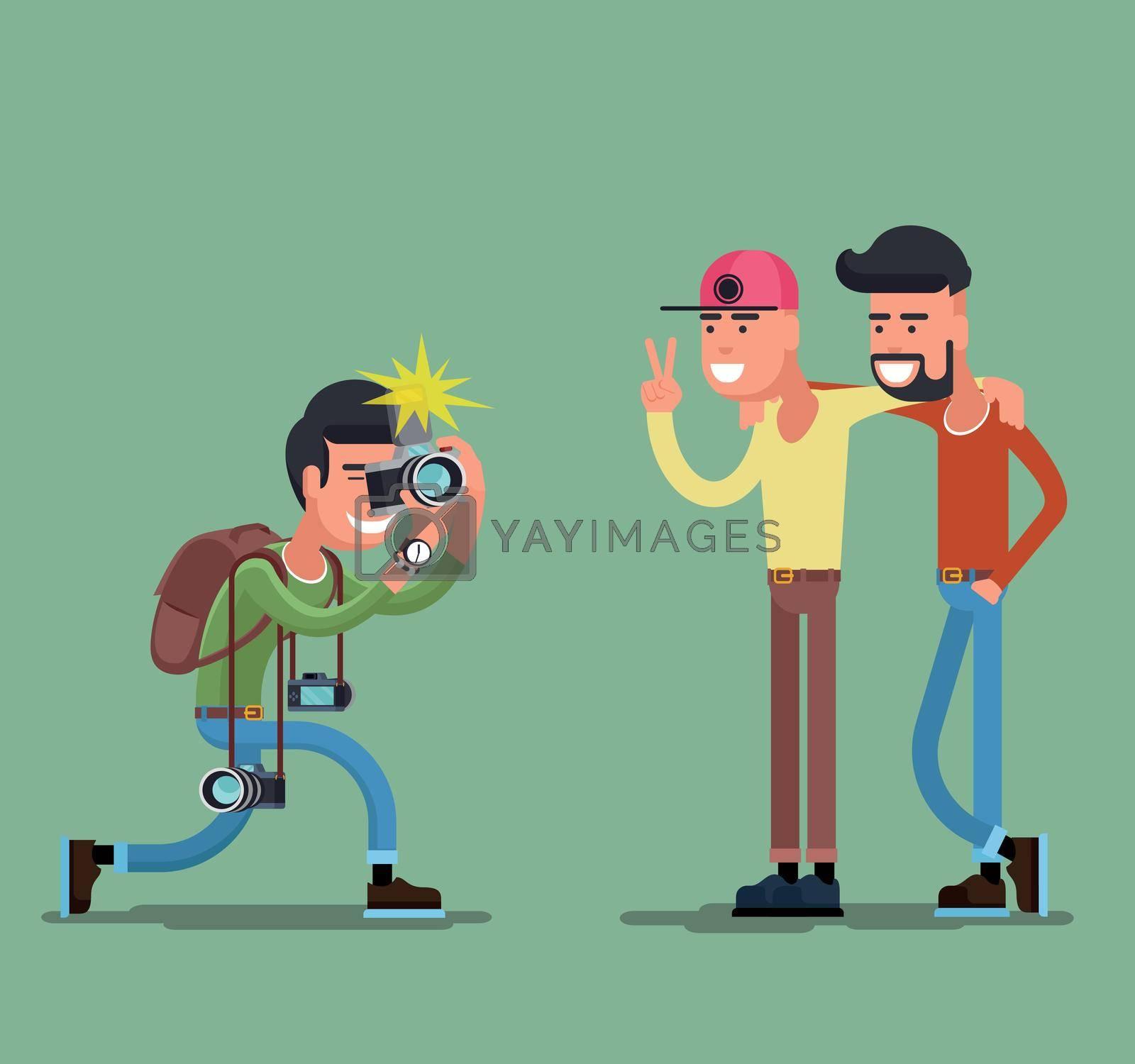 Royalty free image of Photographer shooting people by mstjahanara