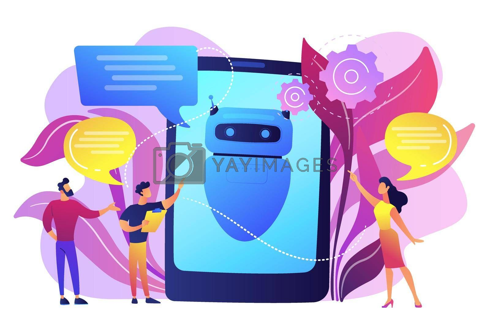 Royalty free image of Chatbot AI concept vector illustration. by vectorart