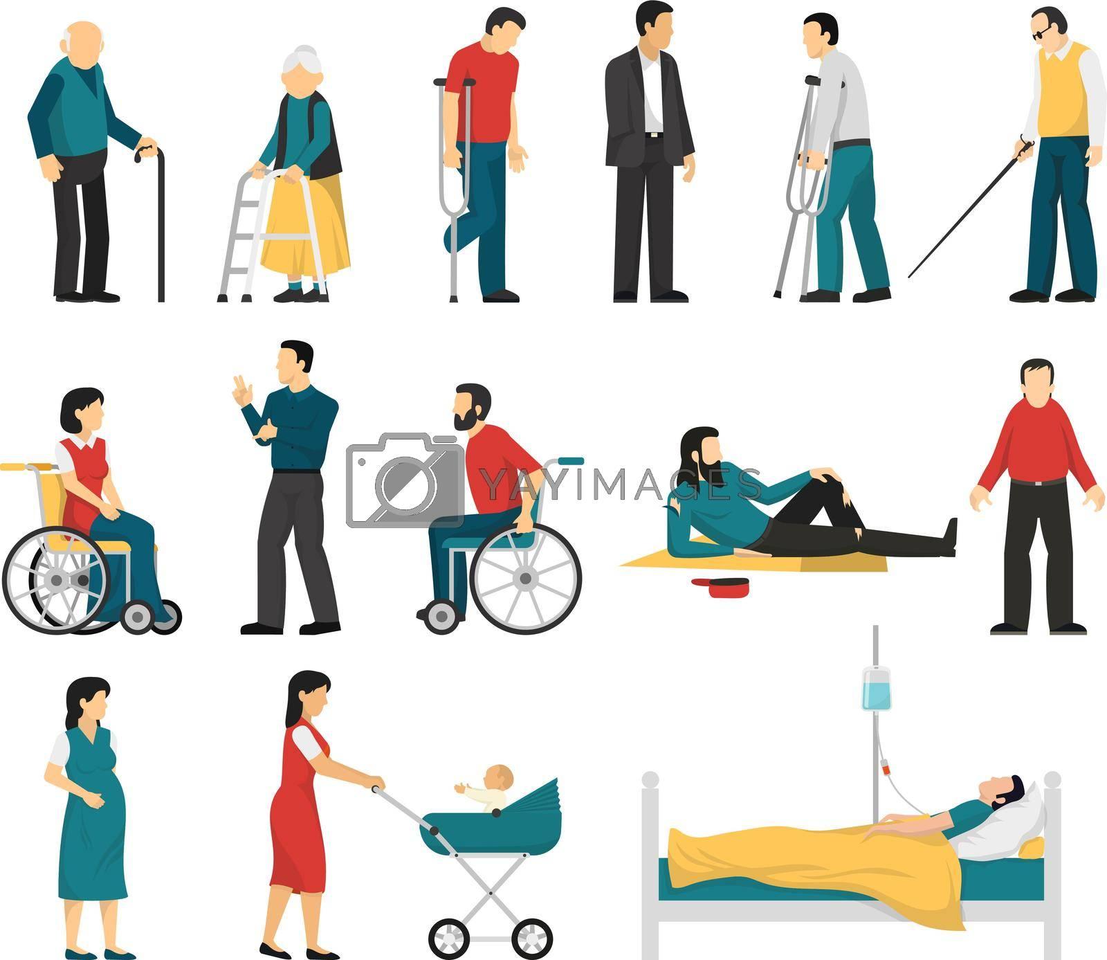 Royalty free image of Disabled People Set by mstjahanara