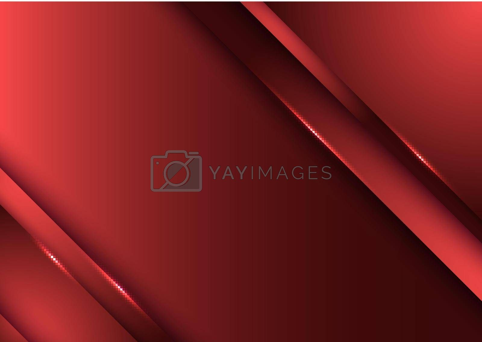 Royalty free image of Template design abstract red gradient stripes overlap layer background with lighting by phochi