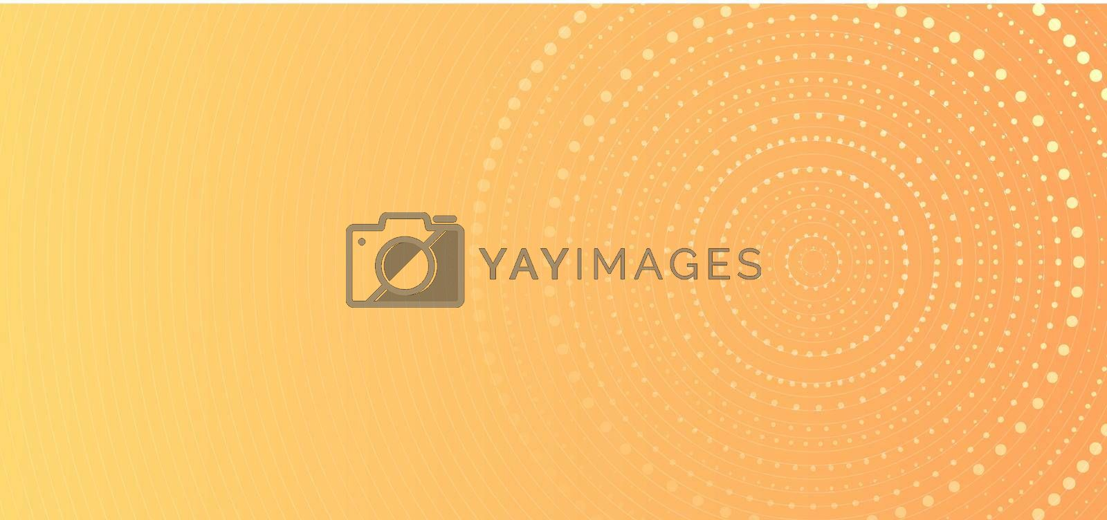 Royalty free image of Banner web template abstract yellow gradient circles dots halftone pattern background by phochi