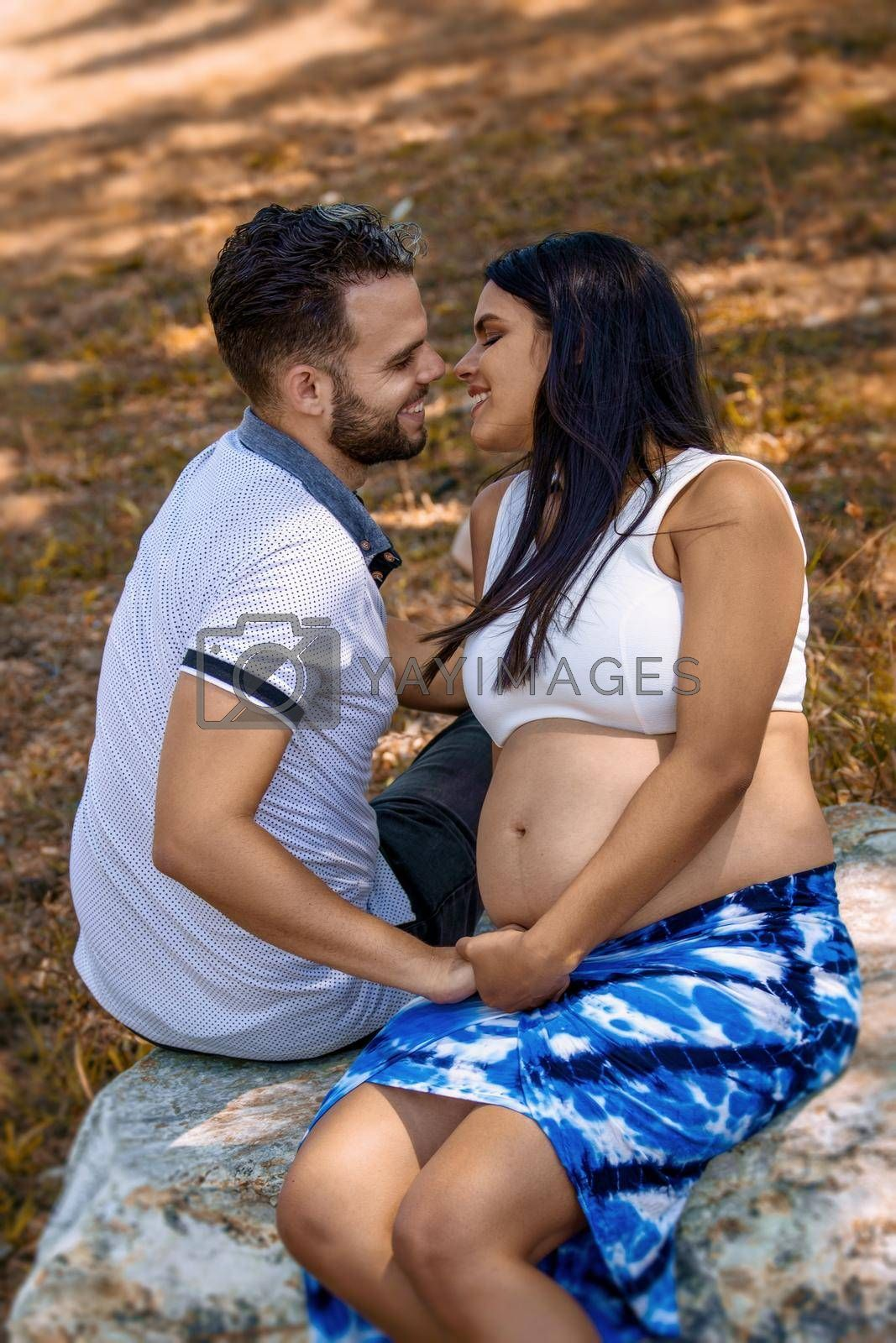 Royalty free image of Couple expecting a child by jrivalta