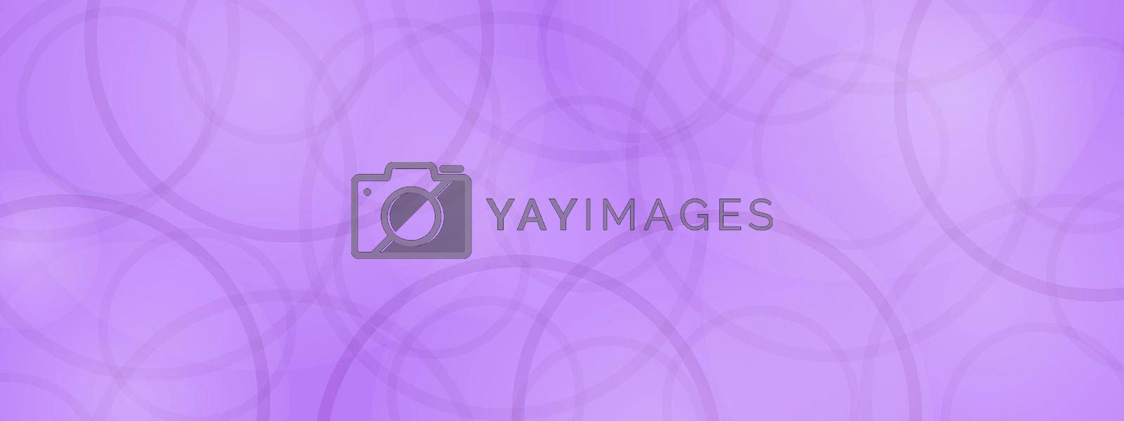 Abstract purple background with overlapping circles. Gradient purple background template for banners, cards, posters. Creative design.