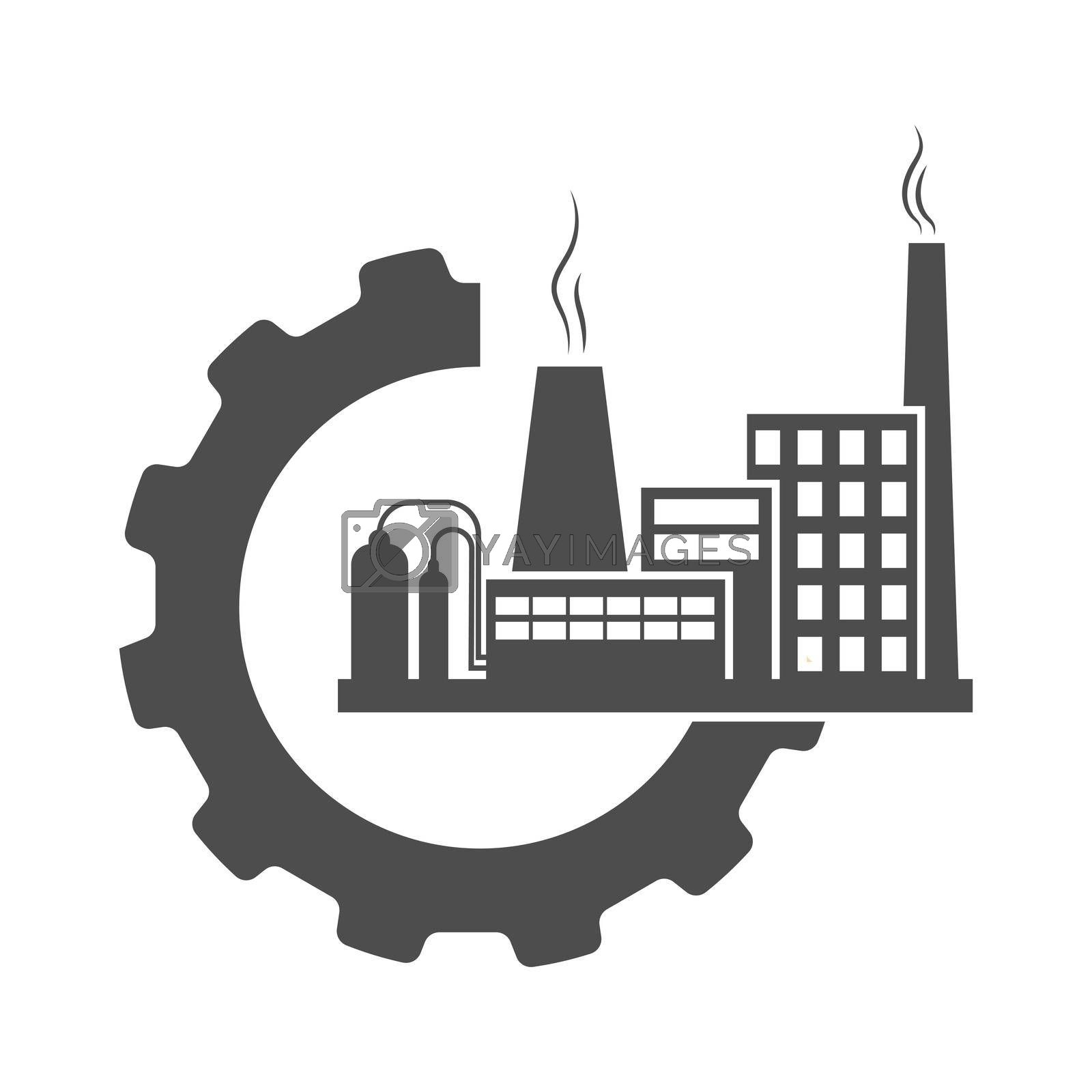 Industrial icon. A simple vector icon for websites and web applications. Flat style