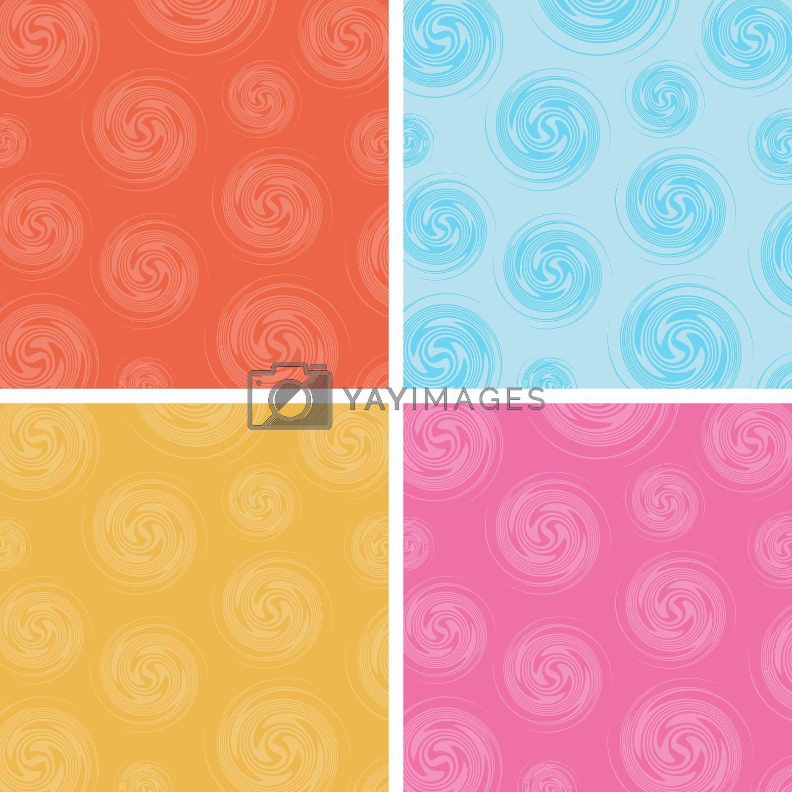 Royalty free image of Set of abstract circles spin pattern multicolor background by phochi