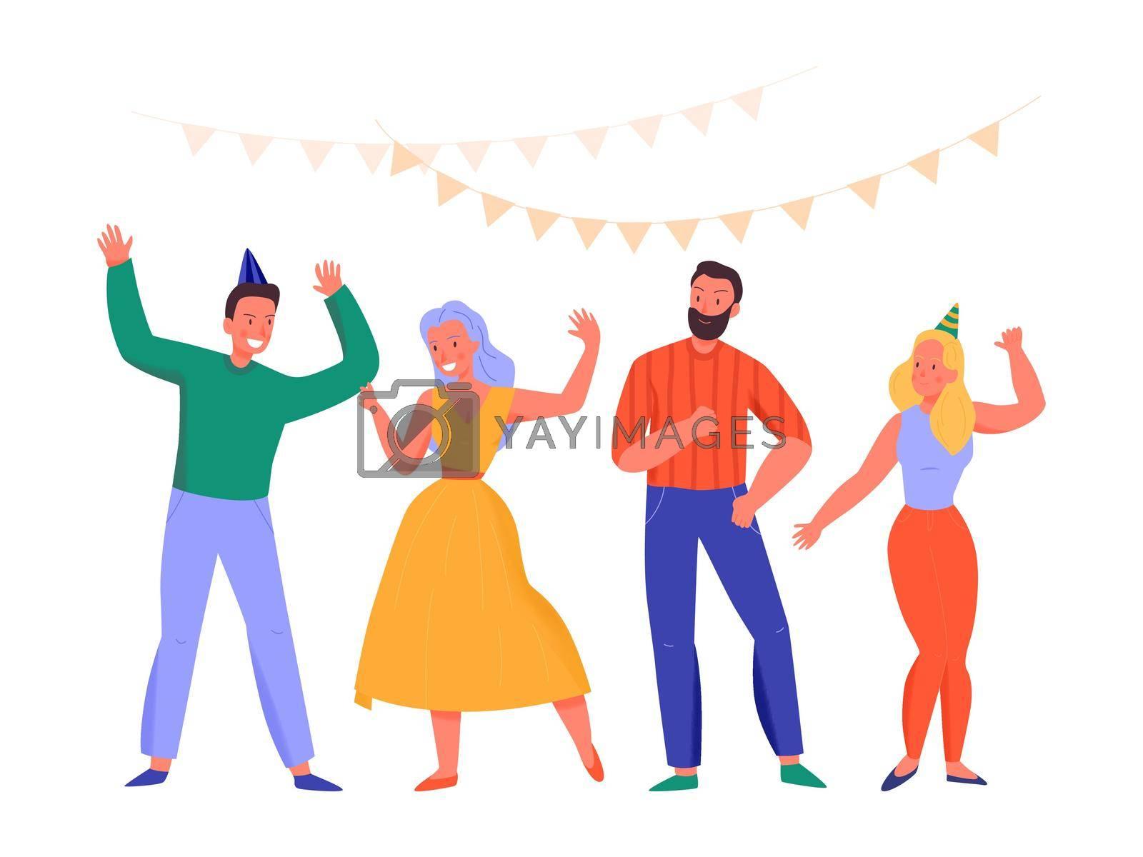 Royalty free image of Flat Dancing People by mstjahanara