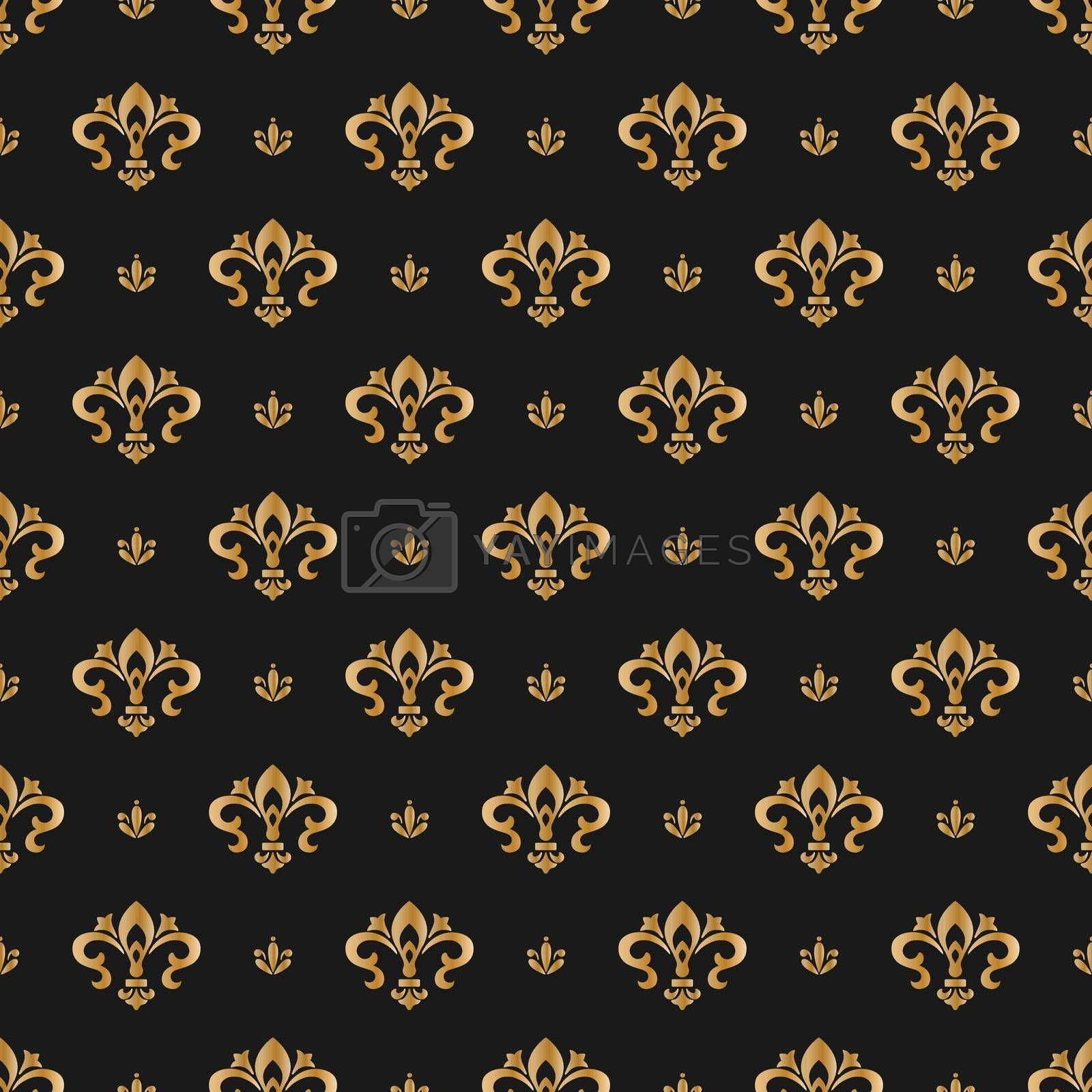 Seamless pattern of decorative elements, for texture, textiles and simple backgrounds. Vector illustration