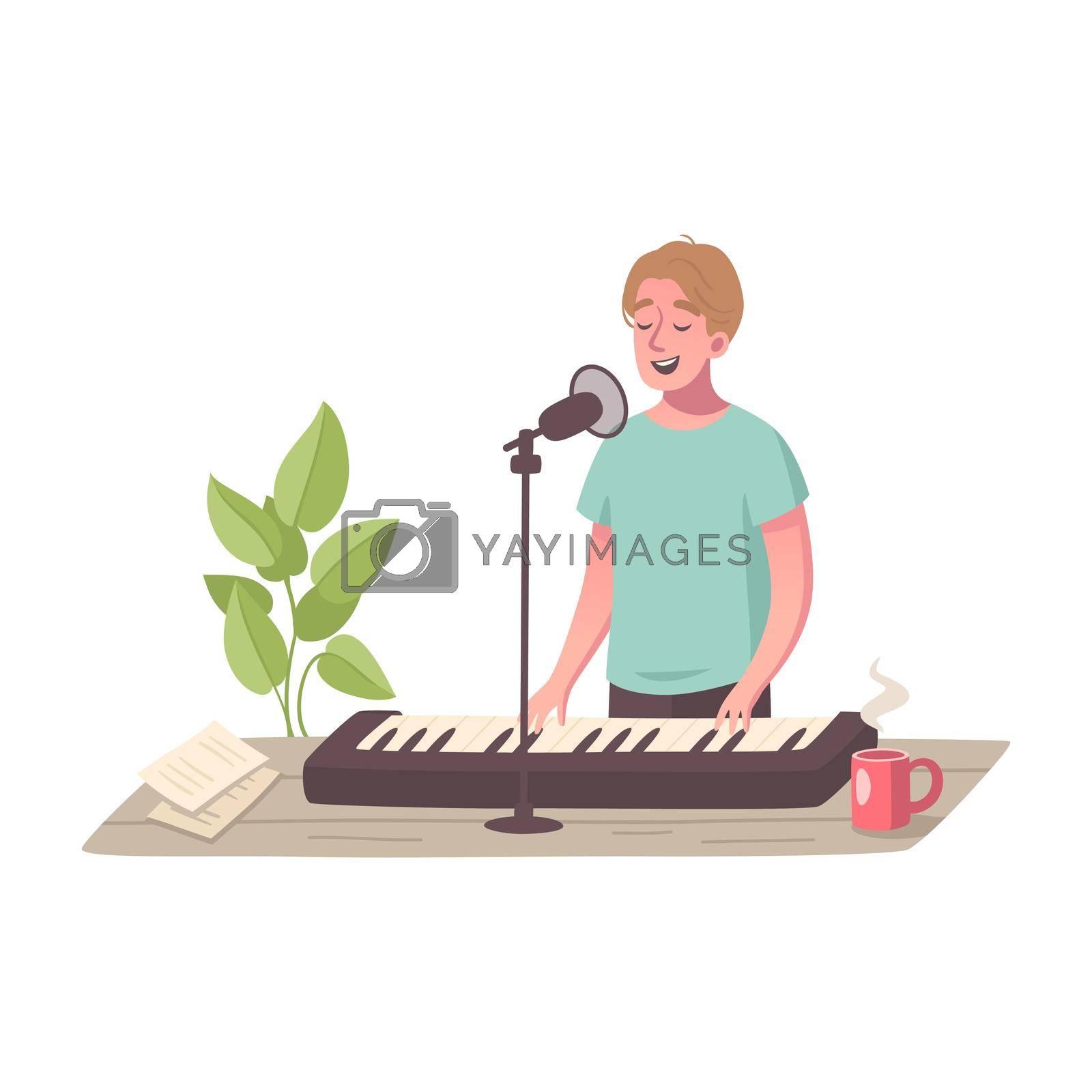 Royalty free image of Music Hobby Cartoon Composition by mstjahanara