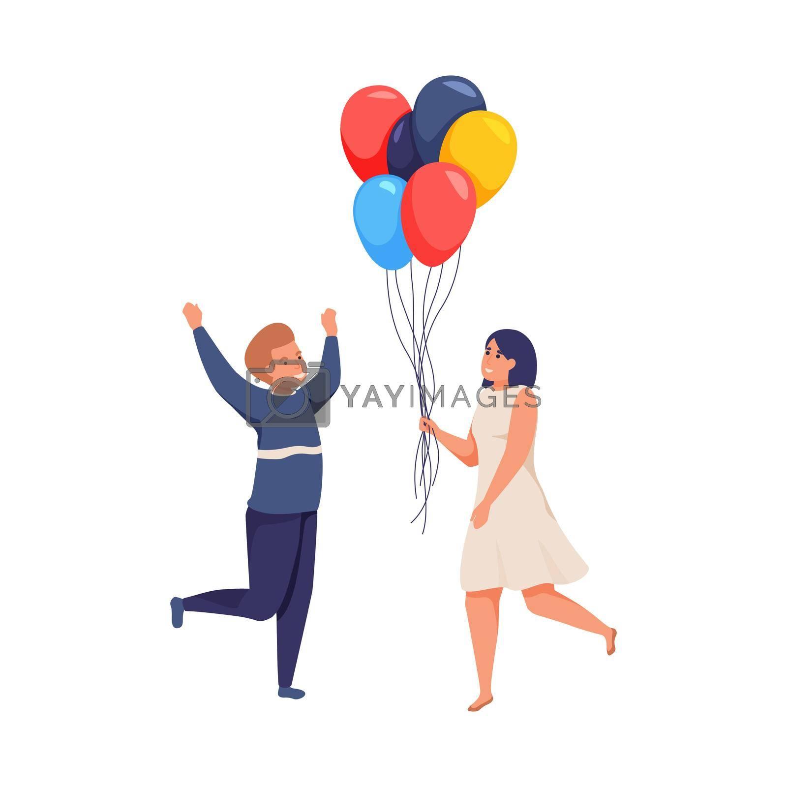Royalty free image of People With Balloons by mstjahanara