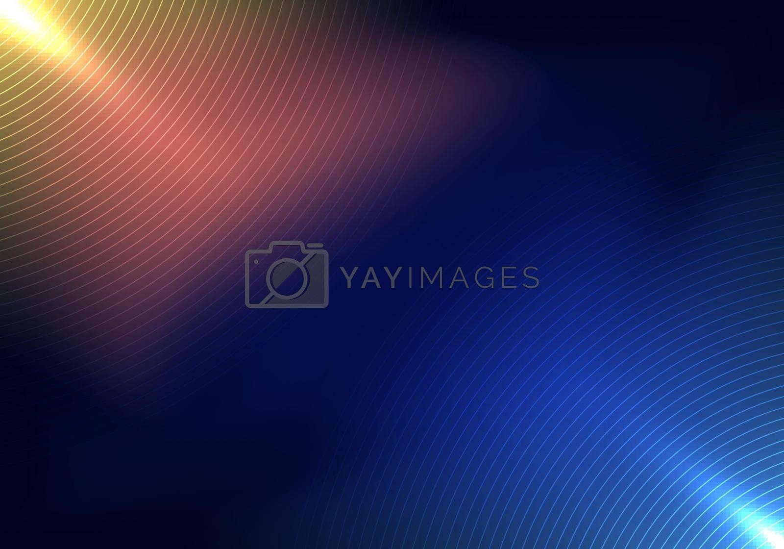 Royalty free image of Abstract technology futuristic concept lighting effect with circles lines pattern on blue background by phochi