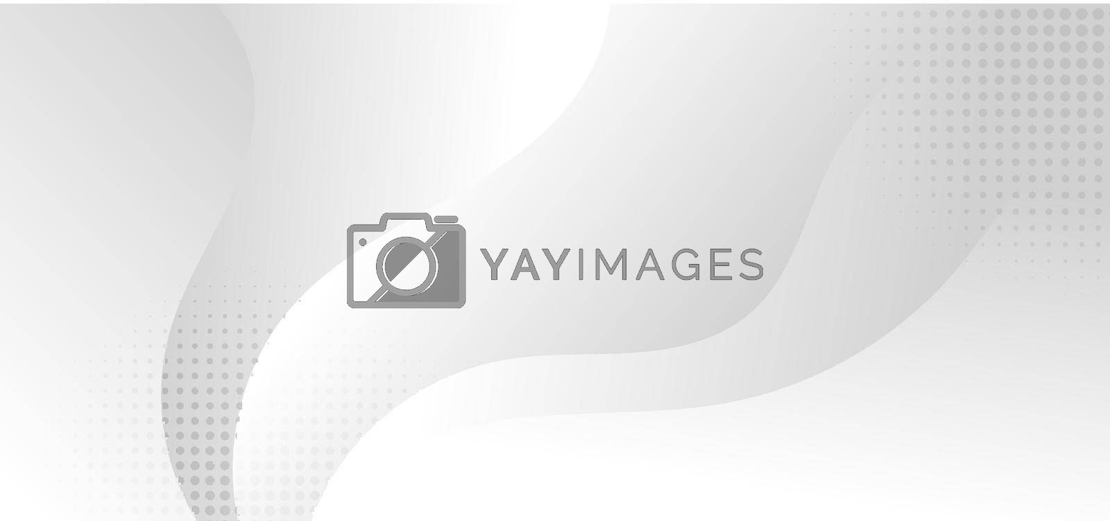 Royalty free image of Abstract white and gray wave dynamic layered background with halftone effect by phochi