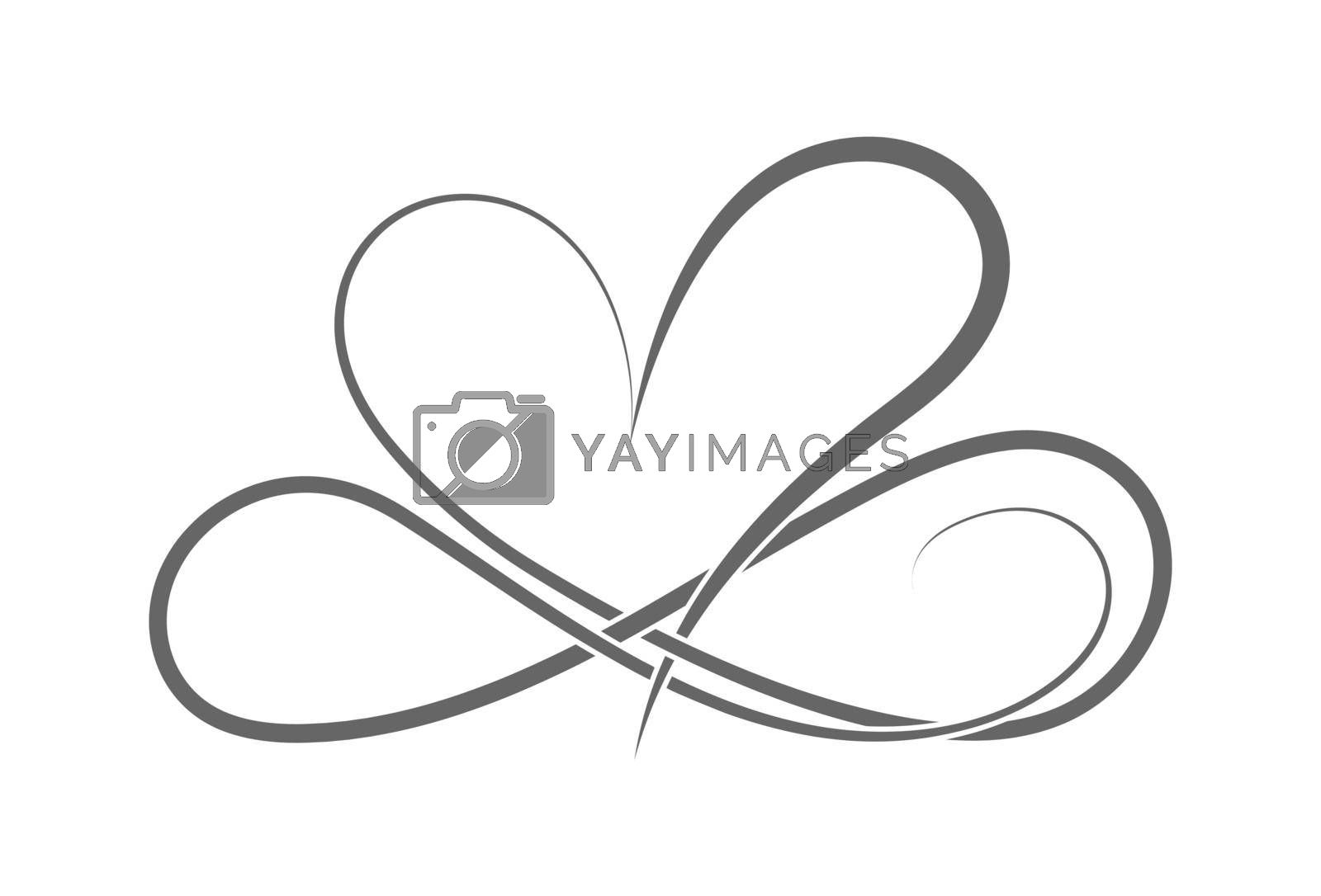 Royalty free image of symbol of eternal love. The heart and the infinity sign. Calligraphy illustration for creative design of love declaration, Valentine's day, wedding by Grommik