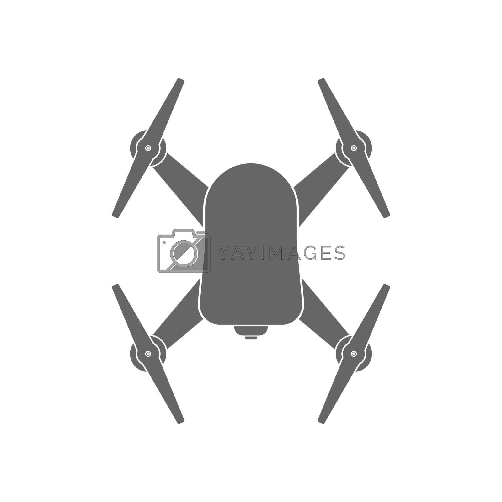 Quadcopter with a camera. Vector illustration isolated on a white background.