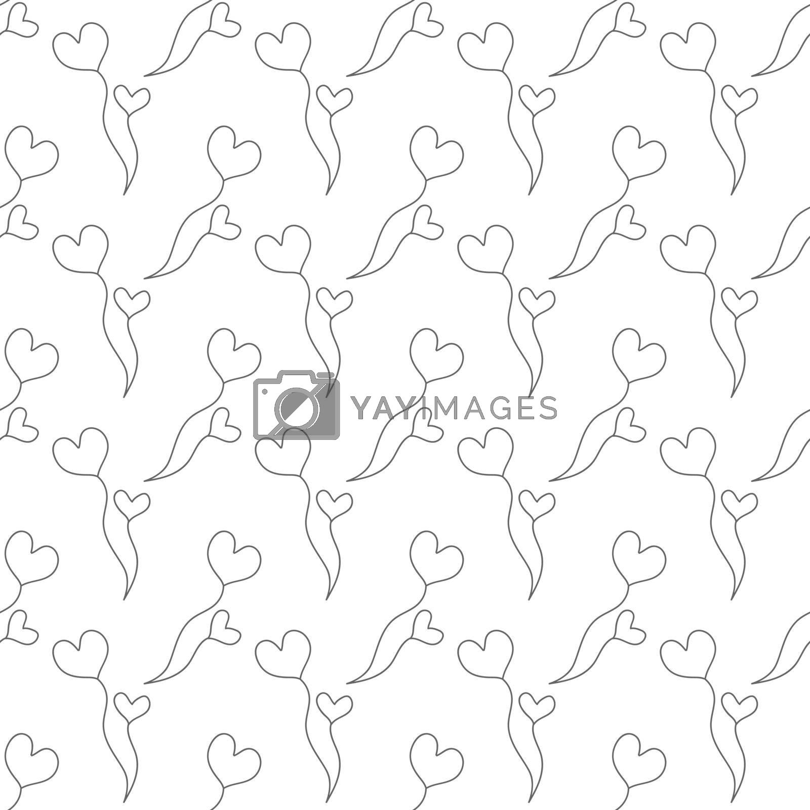 Seamless floral pattern for texture, textiles, and simple backgrounds. Flat Style