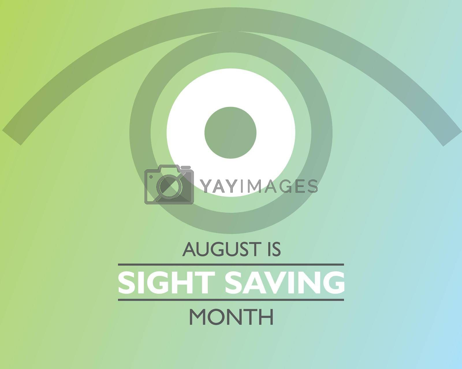 Royalty free image of Vector Illustration of Sight Saving Month is observed in August. by graphicsdunia4you
