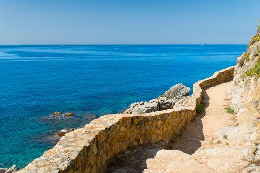 Pathway on coast