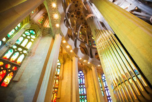 Columns and organ pipes at Sagrada Familia