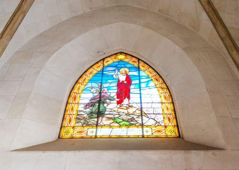 The interior of the Tibidabo church