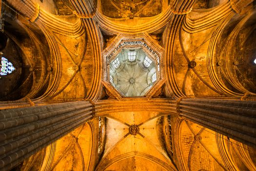 Ceiling the Cathedral of Santa Eulalia in Barcelona