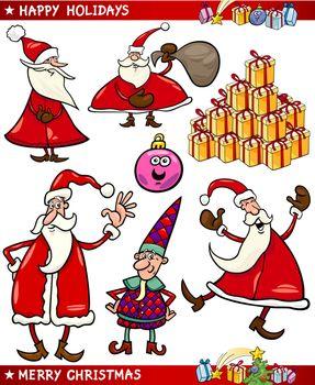 Cartoon Set of Christmas Themes
