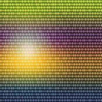 Multicolored binary code written