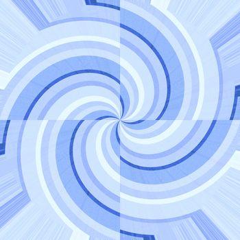 Blue curves forming spirals